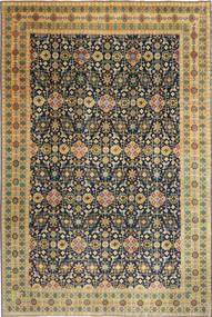 Tabriz Patina Matto 244X360 Itämainen Käsinsolmittu Tummanbeige/Tummanharmaa (Villa, Persia/Iran)