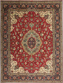 Tabriz Patina Rug 293X387 Authentic  Oriental Handknotted Dark Brown Large (Wool, Persia/Iran)