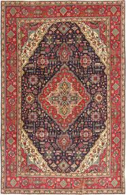 Tabriz Patina Teppe 200X312 Ekte Orientalsk Håndknyttet Brun/Mørk Brun (Ull, Persia/Iran)