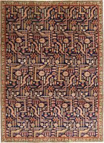Lillian Patina Matta 237X327 Äkta Orientalisk Handknuten Ljusbrun/Mörklila (Ull, Persien/Iran)