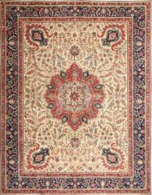 Tebriz Patina Dywan 305X390 Orientalny Tkany Ręcznie Jasnobrązowy/Beżowy Duży (Wełna, Persja/Iran)