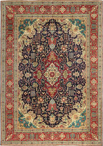 Tabriz Patina Rug 240X350 Authentic Oriental Handknotted Light Brown/Dark Red (Wool, Persia/Iran)