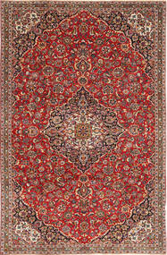 Keshan Patina Rug 218X330 Authentic Oriental Handknotted Brown/Dark Brown (Wool, Persia/Iran)