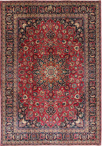 Mashad Patina Matto 242X344 Itämainen Käsinsolmittu Tummanpunainen/Tummanvihreä (Villa, Persia/Iran)