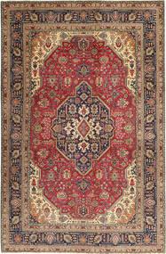 Tabriz Patina Matto 202X305 Itämainen Käsinsolmittu Vaaleanruskea/Tummanpunainen (Villa, Persia/Iran)