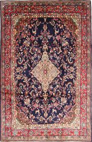 Hamadan Shahrbaf Matto 222X340 Itämainen Käsinsolmittu Tummanvioletti/Ruskea (Villa, Persia/Iran)