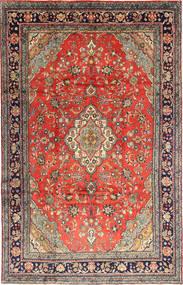 Hamadan Shahrbaf Tapis 220X344 D'orient Fait Main Gris Foncé/Rouge Foncé (Laine, Perse/Iran)