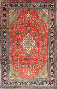 Hamadan Shahrbaf Teppe 220X344 Ekte Orientalsk Håndknyttet Mørk Grå/Mørk Rød (Ull, Persia/Iran)