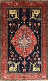 Nahavand Pictorial Rug 150X253 Authentic  Oriental Handknotted Dark Grey/Dark Red (Wool, Persia/Iran)