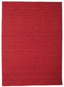 Kelim Loom - Donkerrood tapijt CVD14637