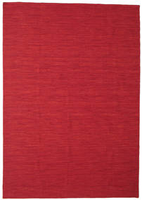 Kelim Loom - Mørkerød tæppe CVD14639