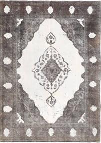 Colored Vintage Vloerkleed 193X273 Echt Modern Handgeknoopt Lichtgrijs/Wit/Creme (Wol, Perzië/Iran)