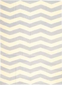 キリム モダン 絨毯 210X288 モダン 手織り ベージュ/薄い灰色 (ウール, アフガニスタン)
