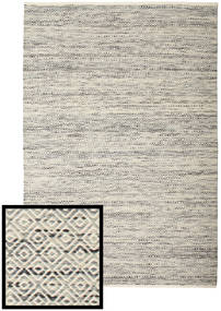 Hugo - Black/Grey Rug 200X300 Authentic  Modern Handwoven Light Grey/Beige ( India)