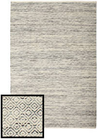 Hugo - Black/Grey Rug 160X230 Authentic  Modern Handwoven Light Grey/Beige ( India)