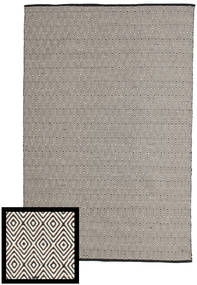 Diamond - Black/White Rug 160X230 Authentic  Modern Handwoven Dark Grey/Light Grey (Cotton, India)