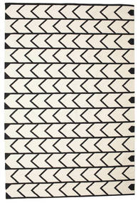 Delia Rug 200X300 Authentic  Modern Handwoven Beige/Black (Cotton, India)