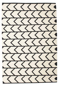 Delia Rug 160X230 Authentic  Modern Handwoven Beige/Black (Cotton, India)