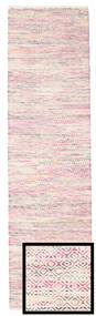Hugo - Multi Pink Rug 80X300 Authentic  Modern Handwoven Hallway Runner  Light Pink/Beige ( India)