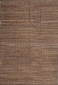 Kilim Modern Rug 197X286 Authentic  Modern Handwoven Brown (Wool, Afghanistan)