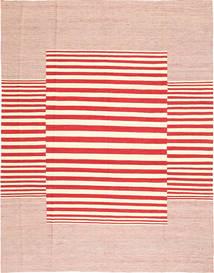 Kilim Modern Rug 220X281 Authentic  Modern Handwoven Light Pink/Crimson Red/Beige (Wool, Afghanistan)