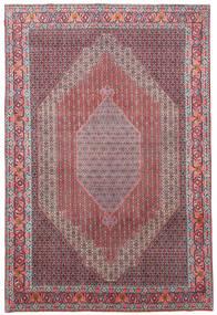 Senneh Tæppe 241X362 Ægte Orientalsk Håndknyttet Lyslilla/Lysegrå (Uld, Persien/Iran)