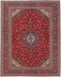 Keshan Matta 300X395 Äkta Orientalisk Handknuten Mörkröd/Brun Stor (Ull, Persien/Iran)
