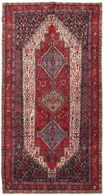 Kurdi Teppich  139X270 Echter Orientalischer Handgeknüpfter Dunkelbraun/Dunkelrot (Wolle, Persien/Iran)