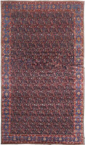 Senneh Rug 368X639 Authentic Oriental Handknotted Dark Brown/Purple Large (Wool, Persia/Iran)