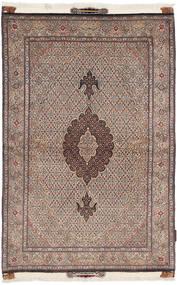Tabriz 50 Raj Avec De La Soie Tapis 101X153 D'orient Fait Main Marron Clair/Gris Clair (Laine/Soie, Perse/Iran)