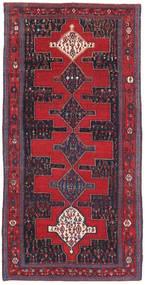 Senneh Patina Teppich 128X277 Echter Orientalischer Handgeknüpfter Rot/Schwartz (Wolle, Persien/Iran)
