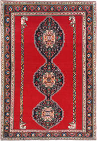 Qashqai Rug 193X285 Authentic  Oriental Handknotted Crimson Red/Dark Grey (Wool, Persia/Iran)
