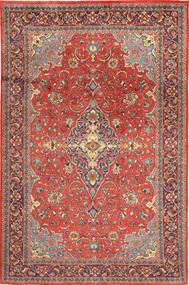 Mahal Rug 208X312 Authentic  Oriental Handknotted Dark Red/Rust Red (Wool, Persia/Iran)