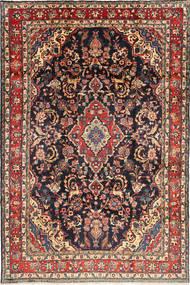 Hamadan Shahrbaf Matto 212X313 Itämainen Käsinsolmittu Ruskea/Tummanvioletti (Villa, Persia/Iran)