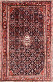 Nanadj Matta 210X344 Äkta Orientalisk Handknuten Mörkröd/Roströd (Ull, Persien/Iran)