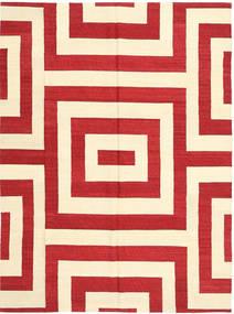 Kelim Moderni Matto 175X235 Moderni Käsinkudottu Beige/Punainen (Villa, Afganistan)