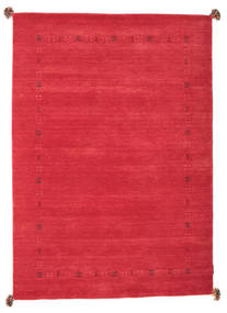 Loribaf Loom Rug 142X202 Authentic  Modern Handknotted Crimson Red (Wool, India)