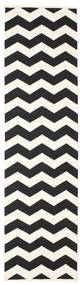 Echo Rug 80X300 Authentic  Modern Handwoven Hallway Runner  Black/Beige (Cotton, India)