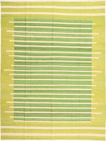 Kilim Modern Rug 204X271 Authentic  Modern Handwoven Yellow/Light Green/Beige (Wool, Afghanistan)