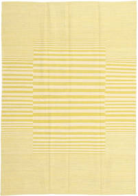 Kilim Modern Rug 125X178 Authentic  Modern Handwoven Yellow/Beige (Wool, Afghanistan)