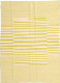 Kilim Modern Rug 124X177 Authentic  Modern Handwoven Yellow/Beige (Wool, Afghanistan)