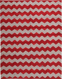 Kilim Modern Rug 188X239 Authentic  Modern Handwoven Crimson Red/Light Grey (Wool, Afghanistan)