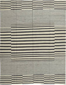 Kilim Modern Rug 173X227 Authentic  Modern Handwoven Light Grey/Dark Grey (Wool, Afghanistan)