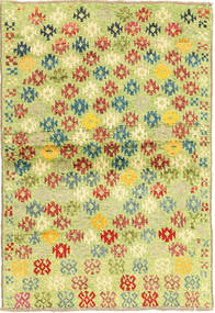 Ziegler Modern Rug 96X135 Authentic  Modern Handknotted Light Green/Yellow (Wool, Afghanistan)