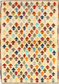 Ziegler Modern Rug 99X133 Authentic  Modern Handknotted Beige/Light Brown (Wool, Afghanistan)
