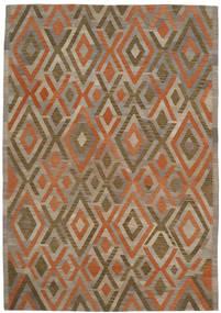 Kilim Modern Rug 203X286 Authentic  Modern Handwoven Light Brown/Brown (Wool, Afghanistan)