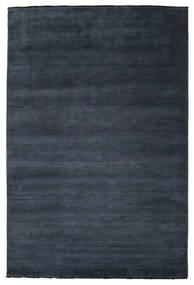 Tapis Handloom fringes - Bleu foncé CVD15139
