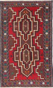 Baluch Rug 80X137 Authentic  Oriental Handknotted Dark Red/Dark Grey (Wool, Afghanistan)