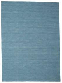 Kilim Loom - Niebieski Dywan 250X350 Nowoczesny Tkany Ręcznie Turkusowy Niebieski/Niebieski/Jasnoniebieski Duży (Wełna, Indie)