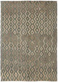 Kelim Moderne Tæppe 191X285 Ægte Moderne Håndvævet Lysebrun/Mørkegrå (Uld, Afghanistan)
